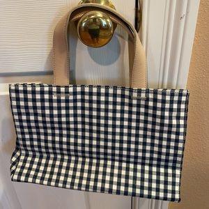 Gingham Amanda Smith Crossbody handbag navy white